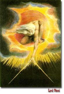 L'Antico dei Giorni, rappresentazione di Dio in un'incisione di William Blake